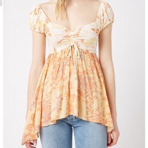 NWT Free People La Bamba Babydoll Top